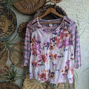 Anthropologie Akemi & Kin XS floral boho top used